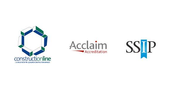 constructionline acclaim ssip logos